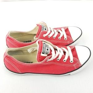 Red Converse Dainty Sneakers Womans Size 8